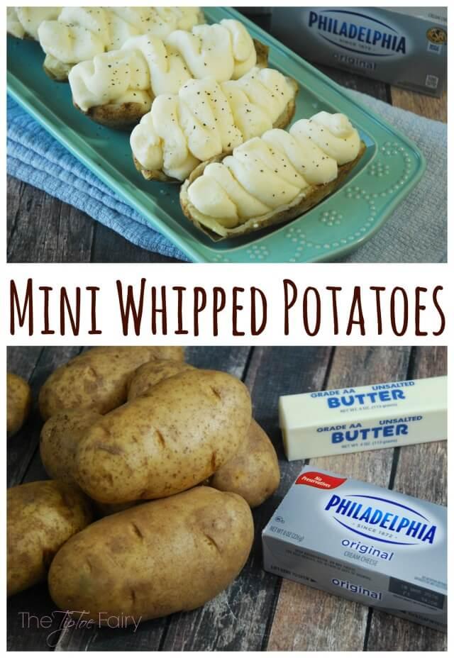 Mini Whipped Potatoes with Philadelphia Cream Cheese are magic! AD #NaturallyCheesy   The TipToe Fairy