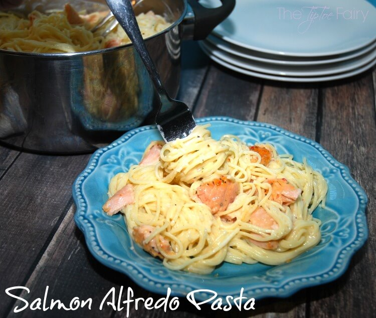 #GoGortons w Salmon Alfredo Pasta w/new @gortonsseafood Gourmet Fillets #ad #food #foodie