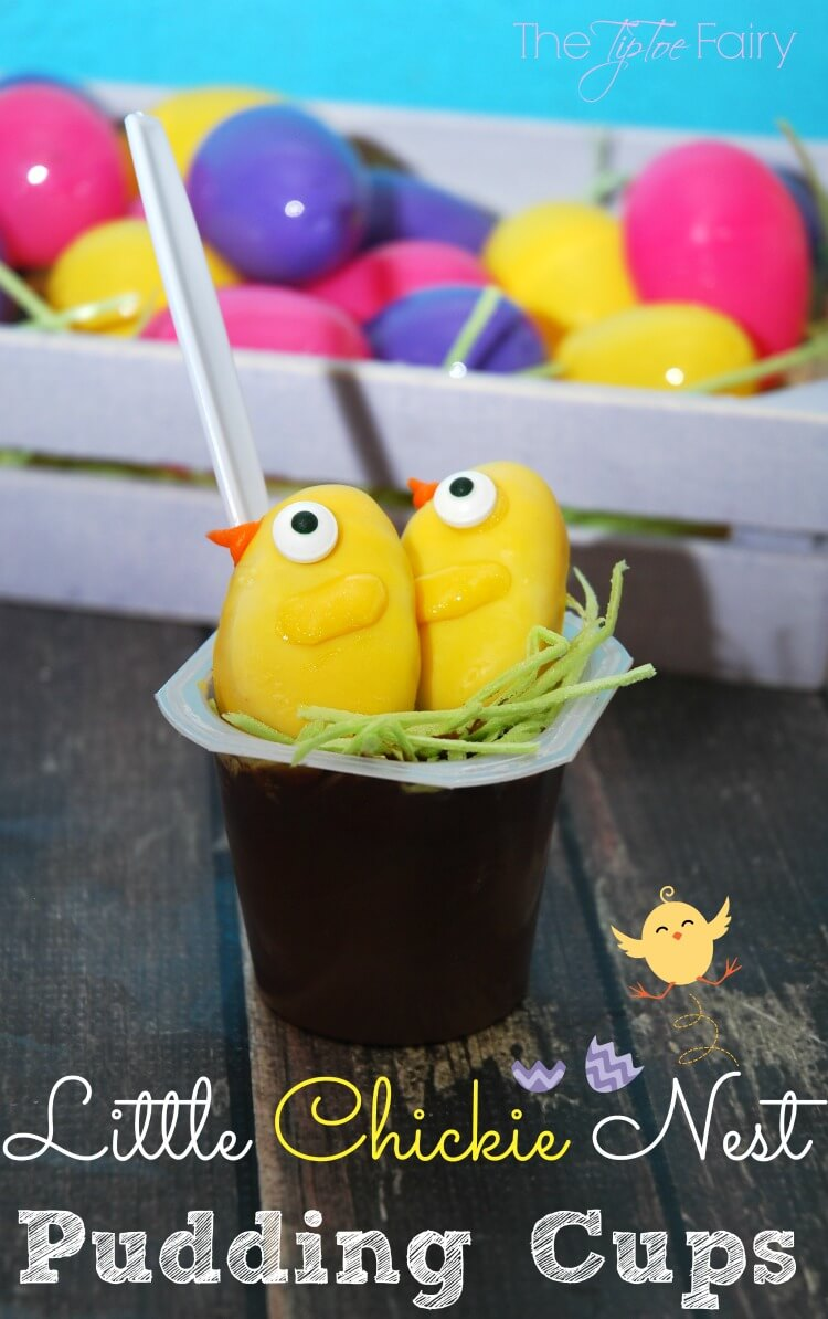 Create a #SpoonfulofFun for #Easter with Little Chickie Nest Pudding Cups for #Easter AD