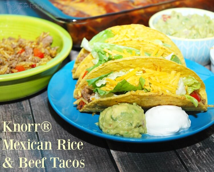 #MakeMoreofMealtime w our new easy fave - Mexican Rice & Beef Tacos #ad #food