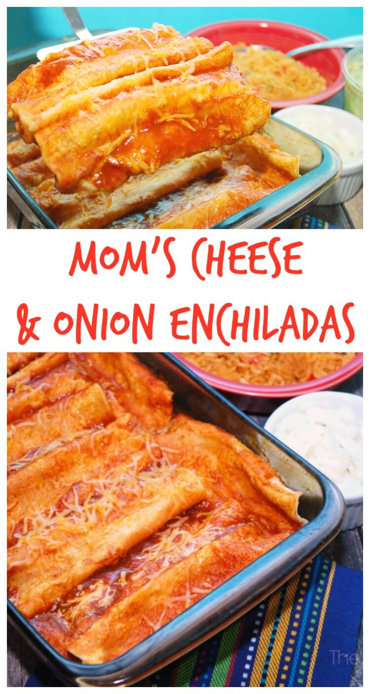 Mom's Cheese & Onion Enchiladas are a favorite for #SundaySupper! #food #foodie
