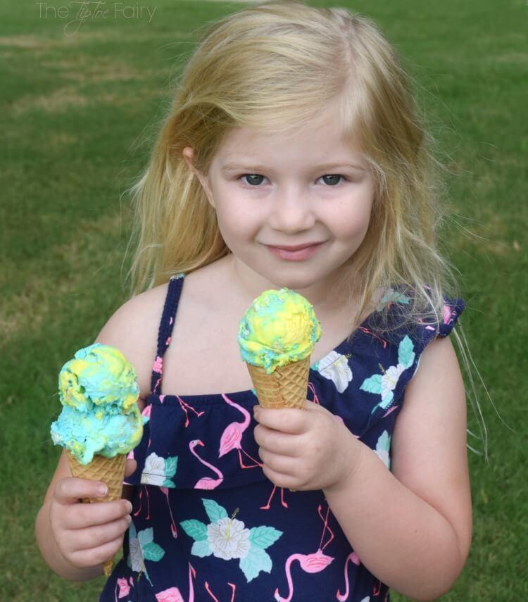 Just for #IceCreamWeek - Finding Dory Ice Cream - No Churn Style! #food #icecream