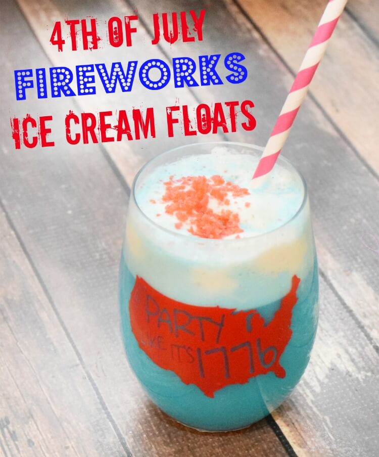 4th of July Fireworks Ice Cream Floats!