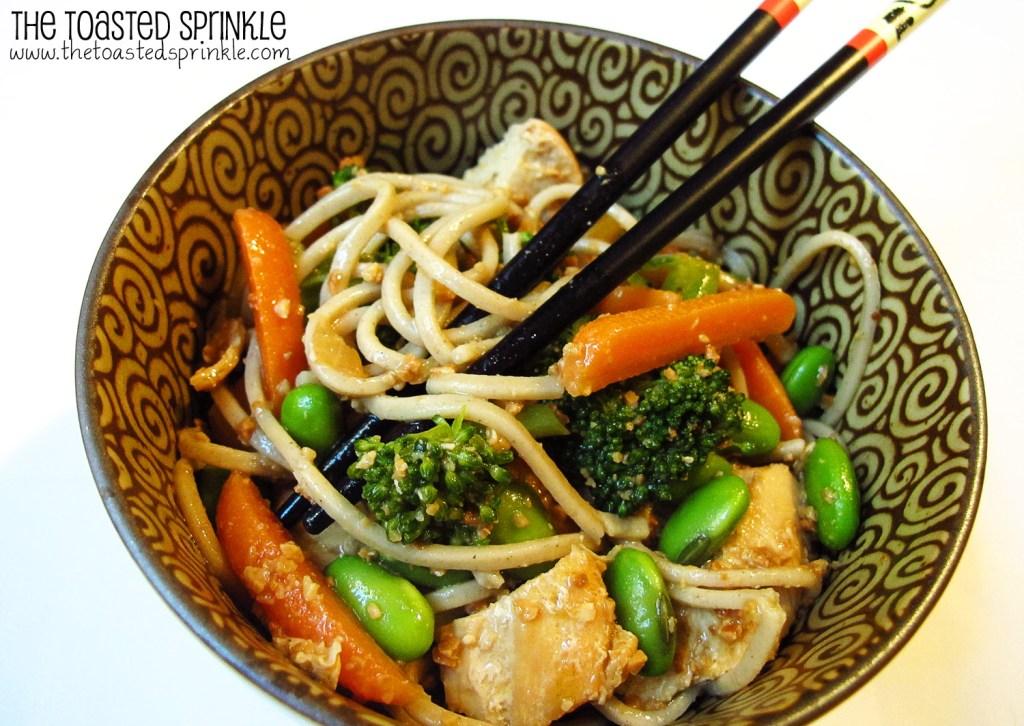 Cold Noodles with Peanut Sauce