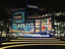 NAMM Show exterior at night