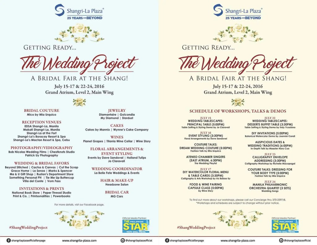Wedding Project, Bridal Fair, Wedding Fair