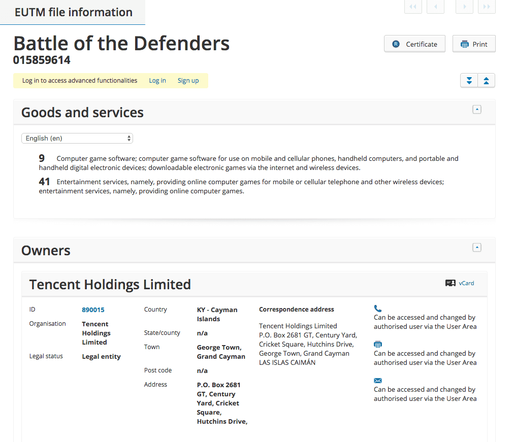 tencent-registers-trademark-for-battle-of-the-defenders-for-computer-games-tencent-tencentcoltd