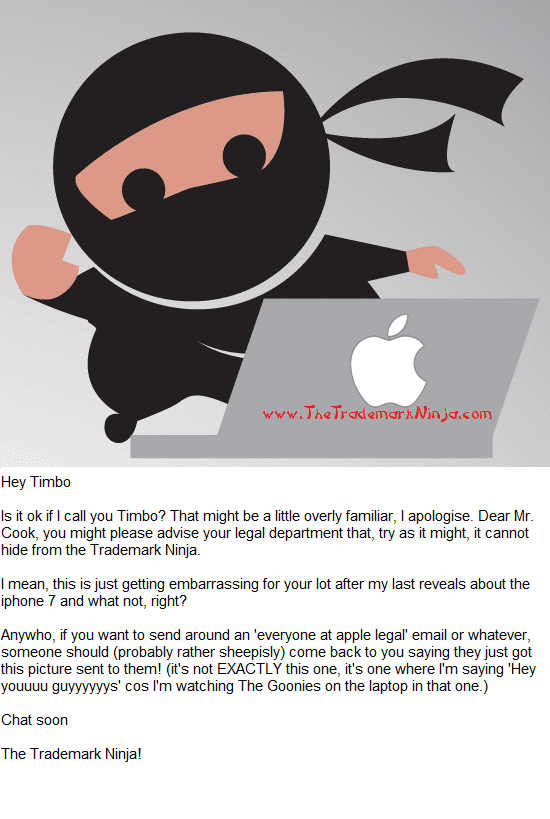 Apple Message To Tim Cook