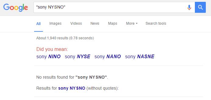 Sony NYSno 1