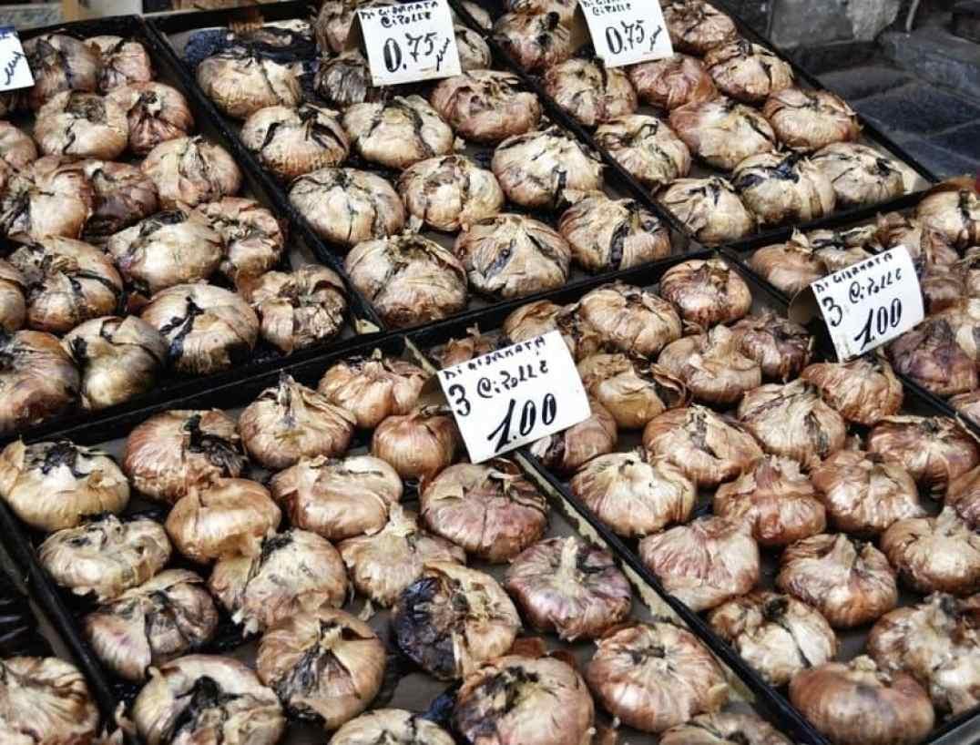 Catania Market - Baked Onions