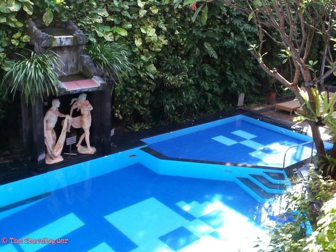 Green Garden Swimming Pool on Nyepi, Bali  thetravelgouer.com