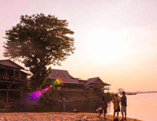 Sunset Haze Don Det - 4000 Islands Cambodia Laos