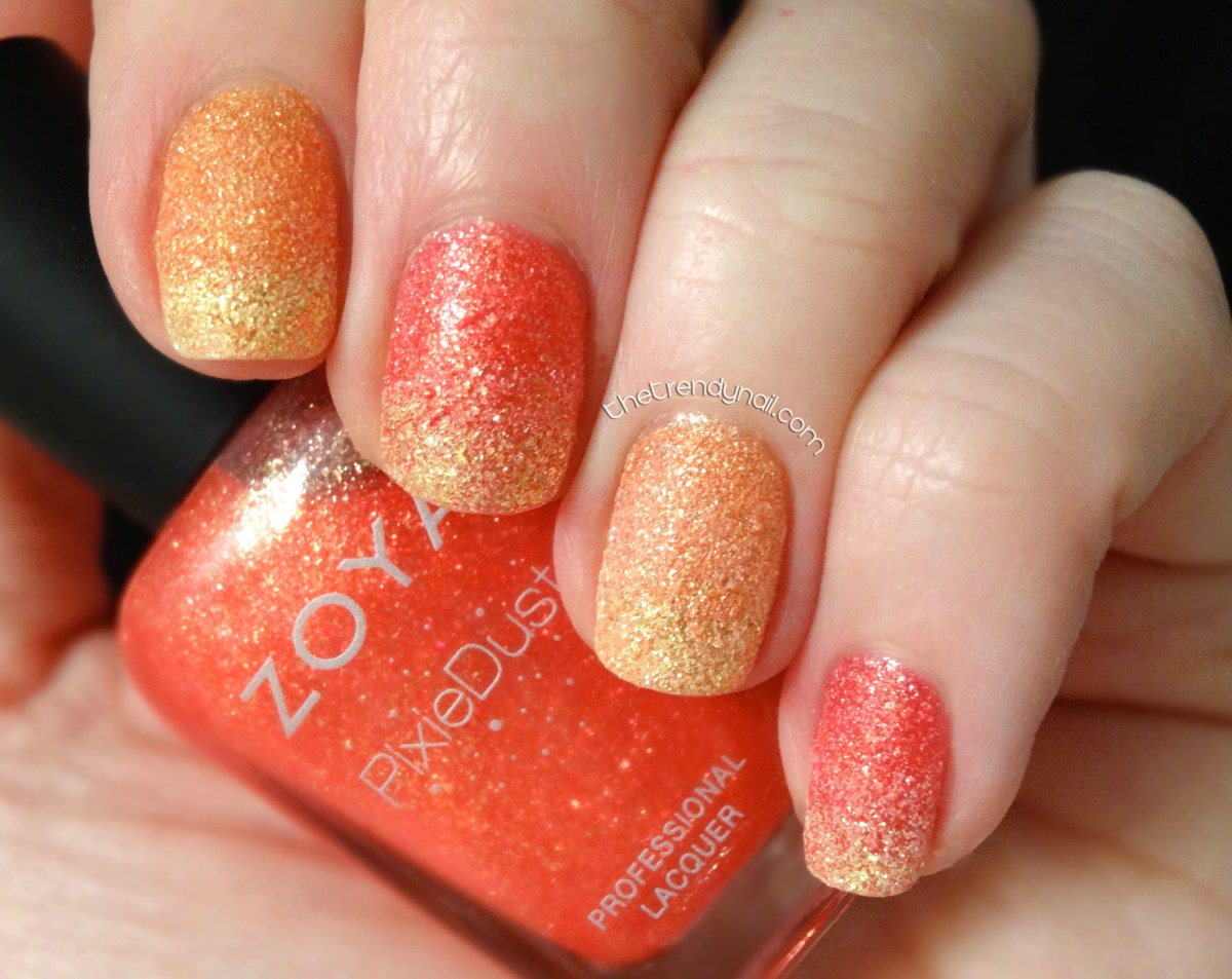 Fire Nails with Zoya's Summer Pixie Dust Collection