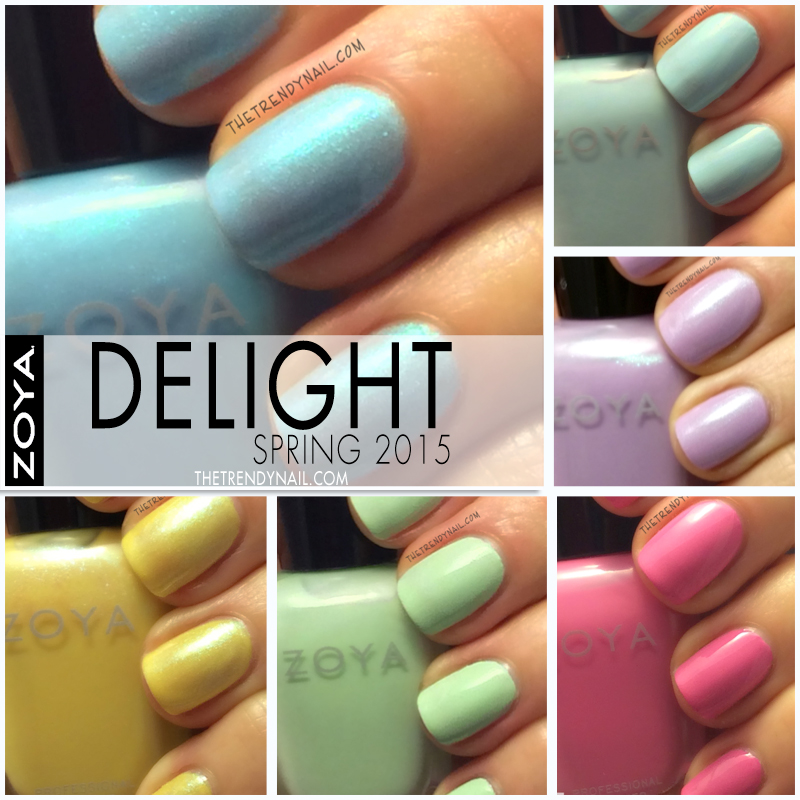 Swatches & Reviews: Zoya Delight Spring 2015
