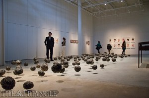The Leonard Pearlstein Gallery hosted a grand opening of renowned artist Wangechi Mutu's exhibition Feb. 22. The gallery moved to its new location at the URBN Center Annex.