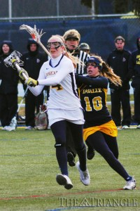 Senior midfielder Kelli Joran scored a hat trick on three shots in Drexel's 11-8 win over No. 11 Penn at Franklin Field Feb. 23.