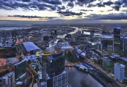 Melbourne dusk by 2careless on Flickr