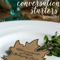 Thanksgiving Dinner Conversation Starters {printable}