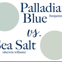 Sea Salt vs. Palladian Blue - How to Choose a Paint Color without Regrets