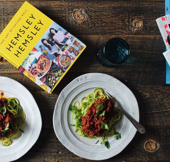 beef ragu and courgetti, with cookbook