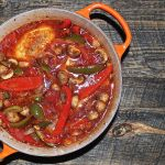 chicken cacciatore in dutch oven