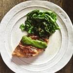 Seamus Mullen lamb chop with greens and salsa verde