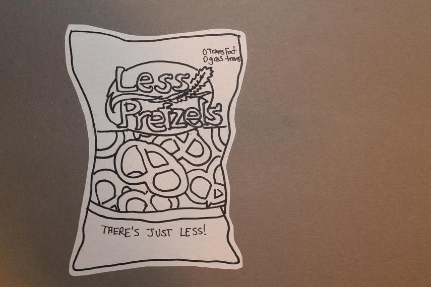 There are waaaaaay less pretzels