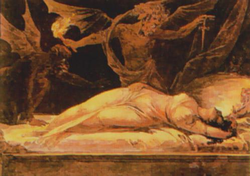 artwork of demons having sex
