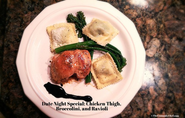 Chicken Thigh and Ravioli
