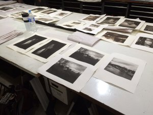 Direct-to-plate gravures made during a Making Art Safely workshop, led by Don Messec.