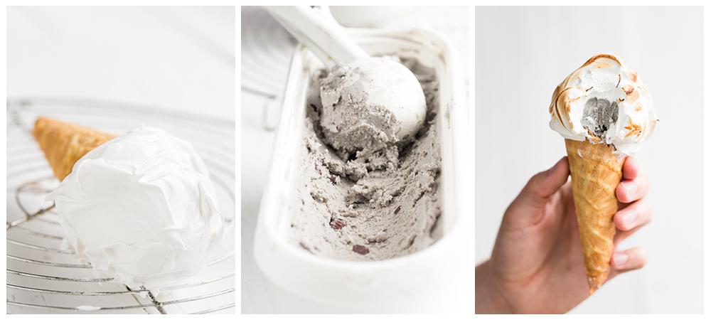 Maple & Black Sesame Ice Cream Drumsticks