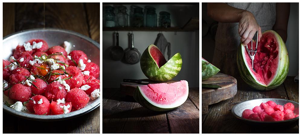 Savory Watermelon Salad w/ Fried Rosemary