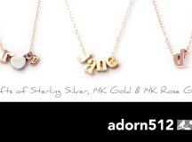UR GIVEAWAY: Win a Rose Gold Initial Necklace from Adorn512!