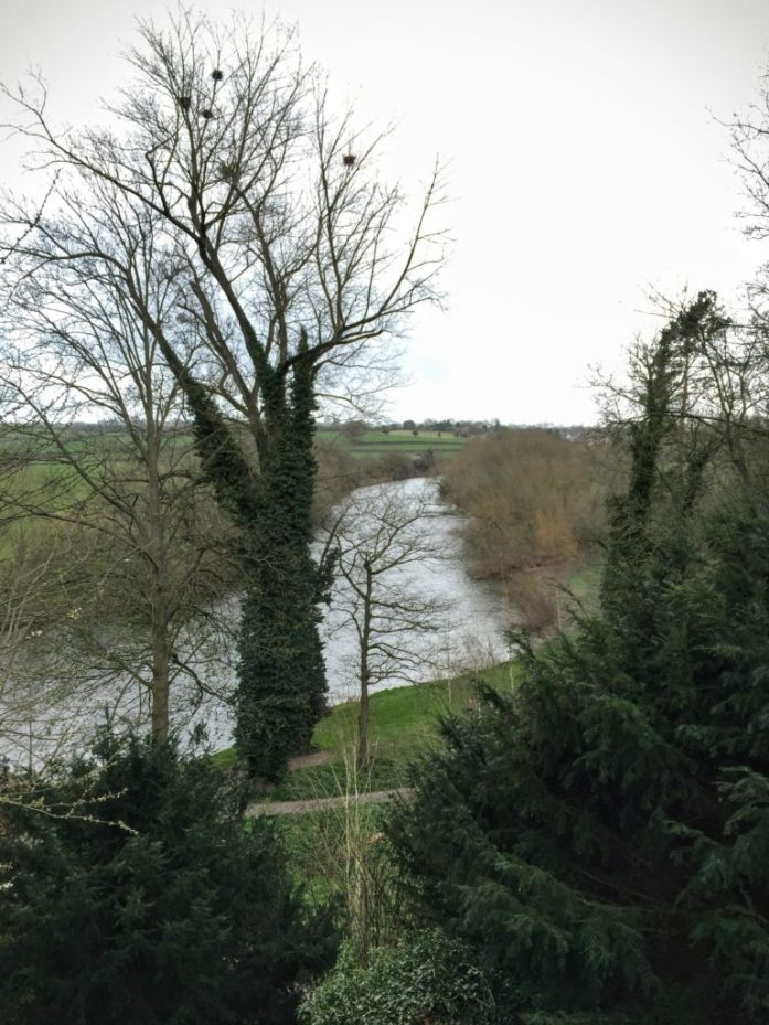 While it was raining 'before' shot of the River Wye