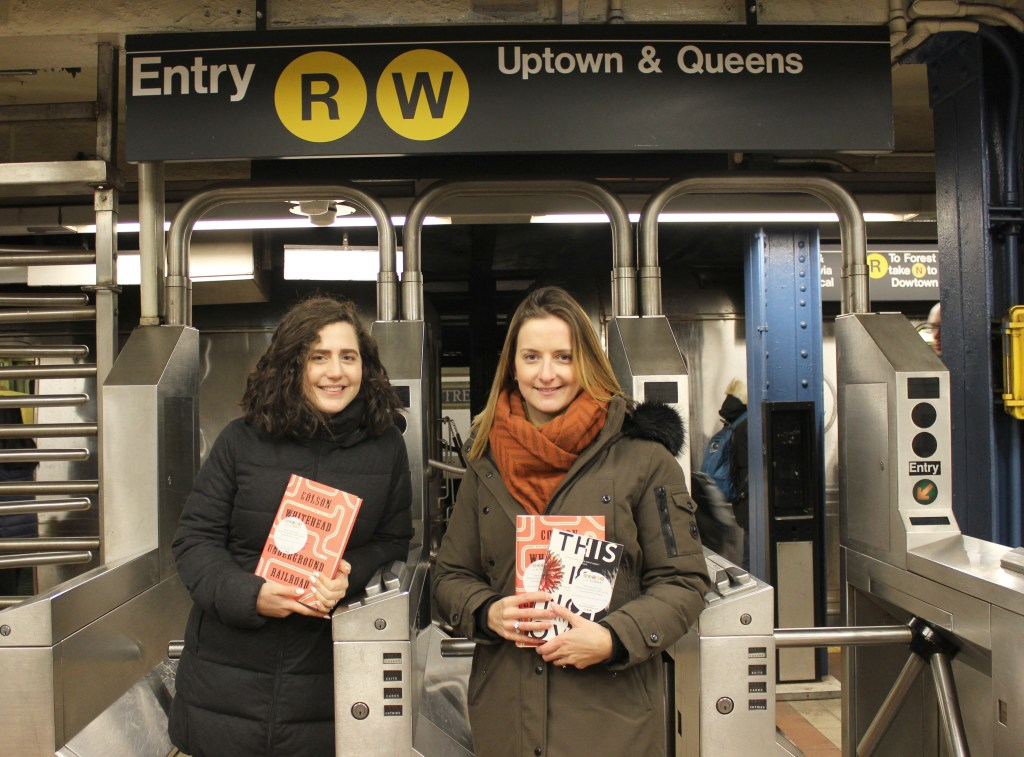 Photo of Hollie Fraser and Rosy Kehdi, two inspiring young women behind the non-for-profit organisation of Books On The Subway (BOTS)