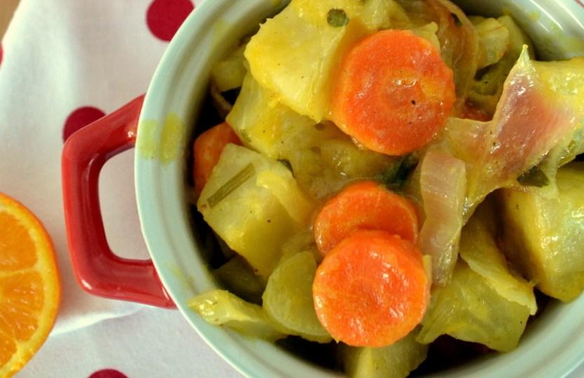 Λαχανικά - ρίζες φούρνου με πορτοκάλι κ κινόα