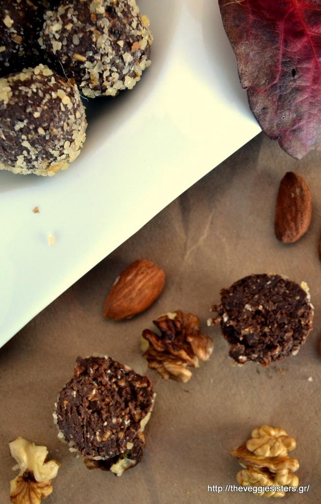 υπέροχα τρουφάκια με σοκολάτα κ αβοκάντο