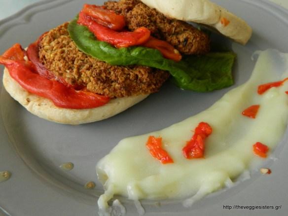 Υπέροχα χορτοφαγικά μπιφτέκια - Delicious Vegan Burger