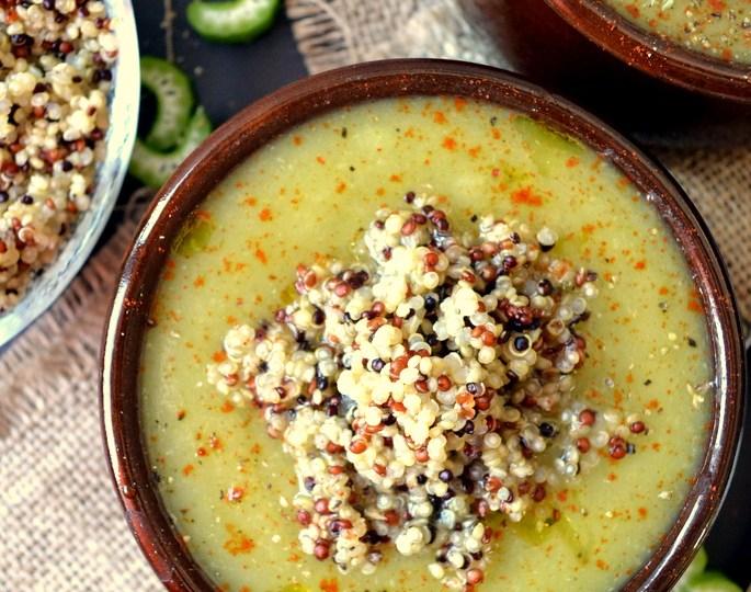 Σούπα με σελινόριζα κ κινόα