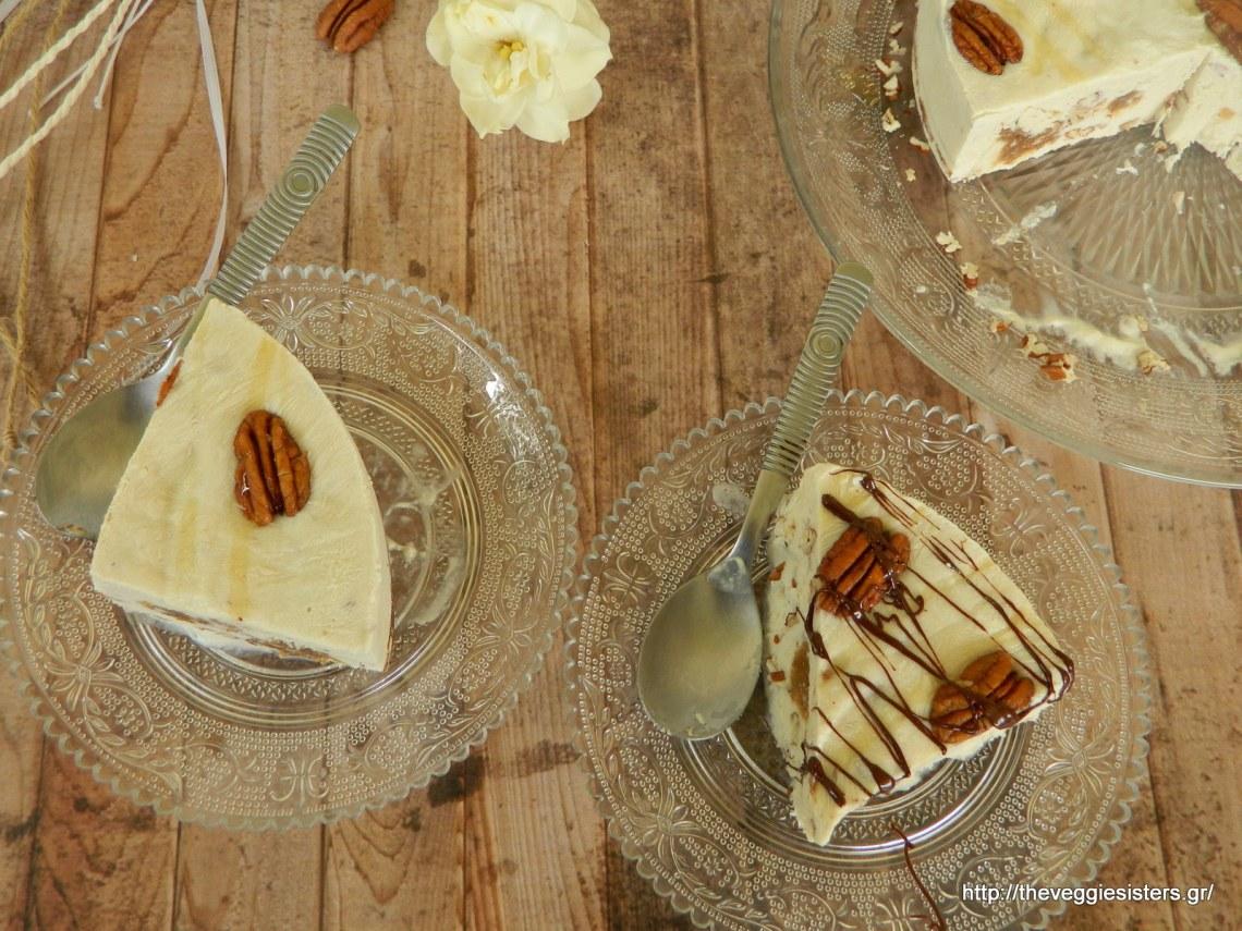 Νηστίσιμο παγωτό με καραμέλα κ πεκάν - Silken tofu caramel pecan ice cream