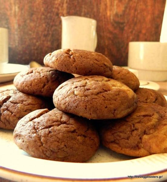Νηστίσιμα κουλουράκια με κακάο κ φυστικοβούτυρο – Vegan cocoa peanut butter cookies