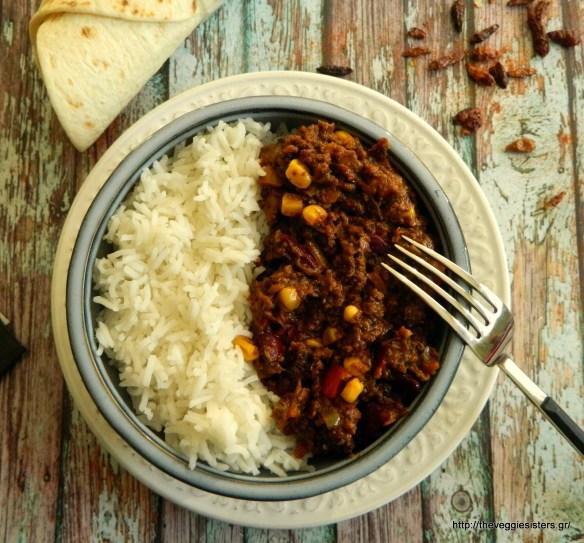 Χορτοφαγικό chili con carne - Vegan chili con carne