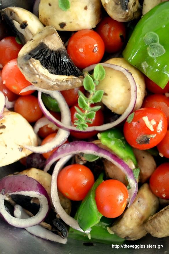 Μπασμάτι με ψητά λαχανικά