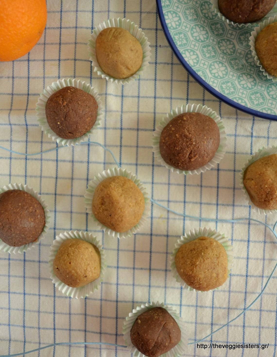 Γλυκά τρουφάκια από ρεβύθια