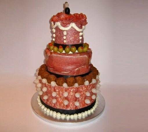 Birthday Cake Made Of Bacon