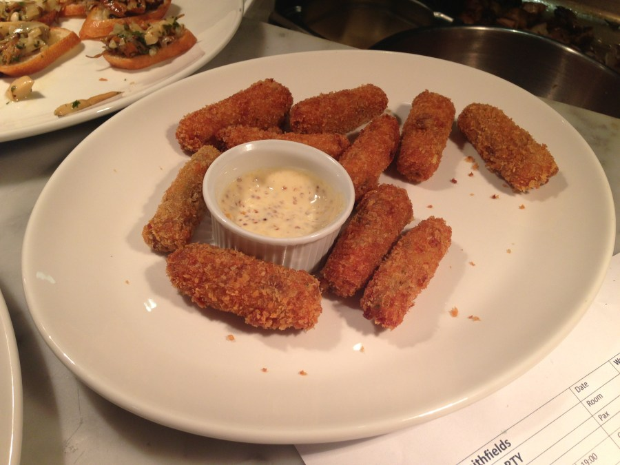 Salt beef croquettes at Smith, Spitalfields
