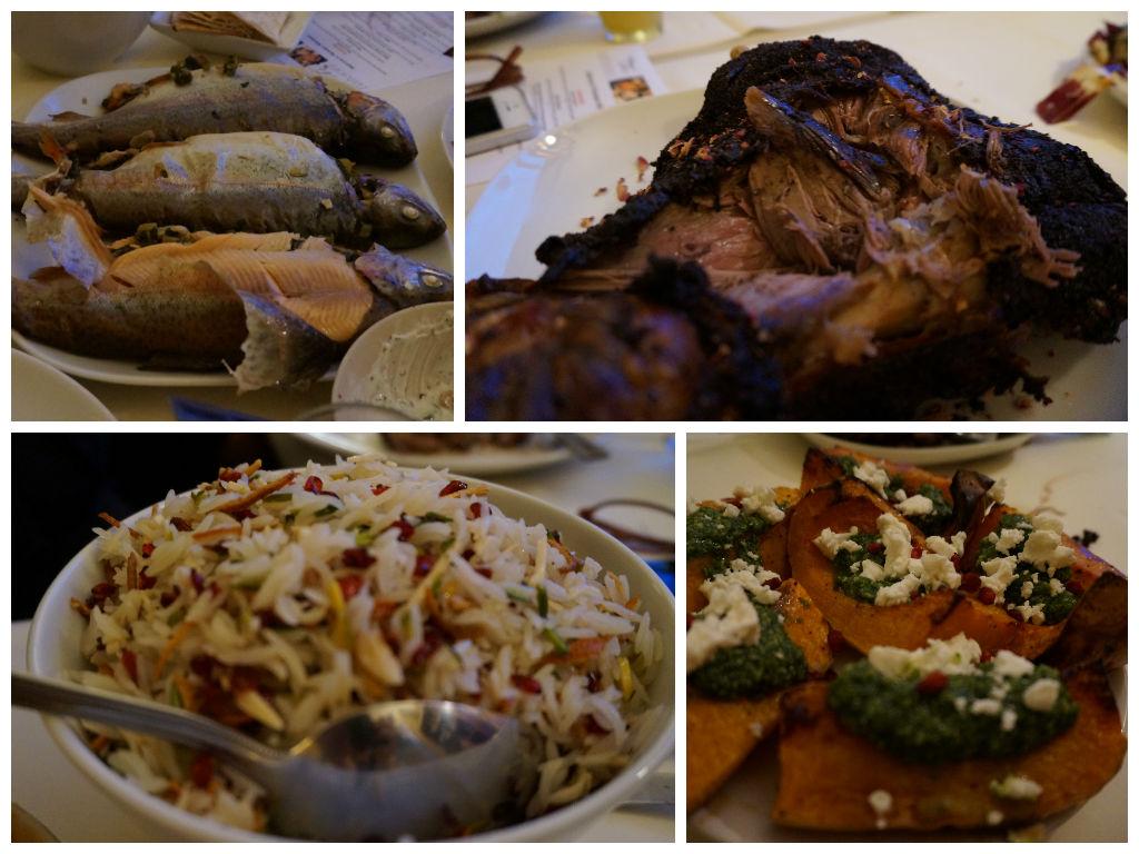 Mains at Sabrina Ghayour's Persiana supper club.