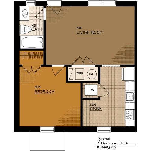 Medium Crop Of One Bedroom Apartment Floor Plans