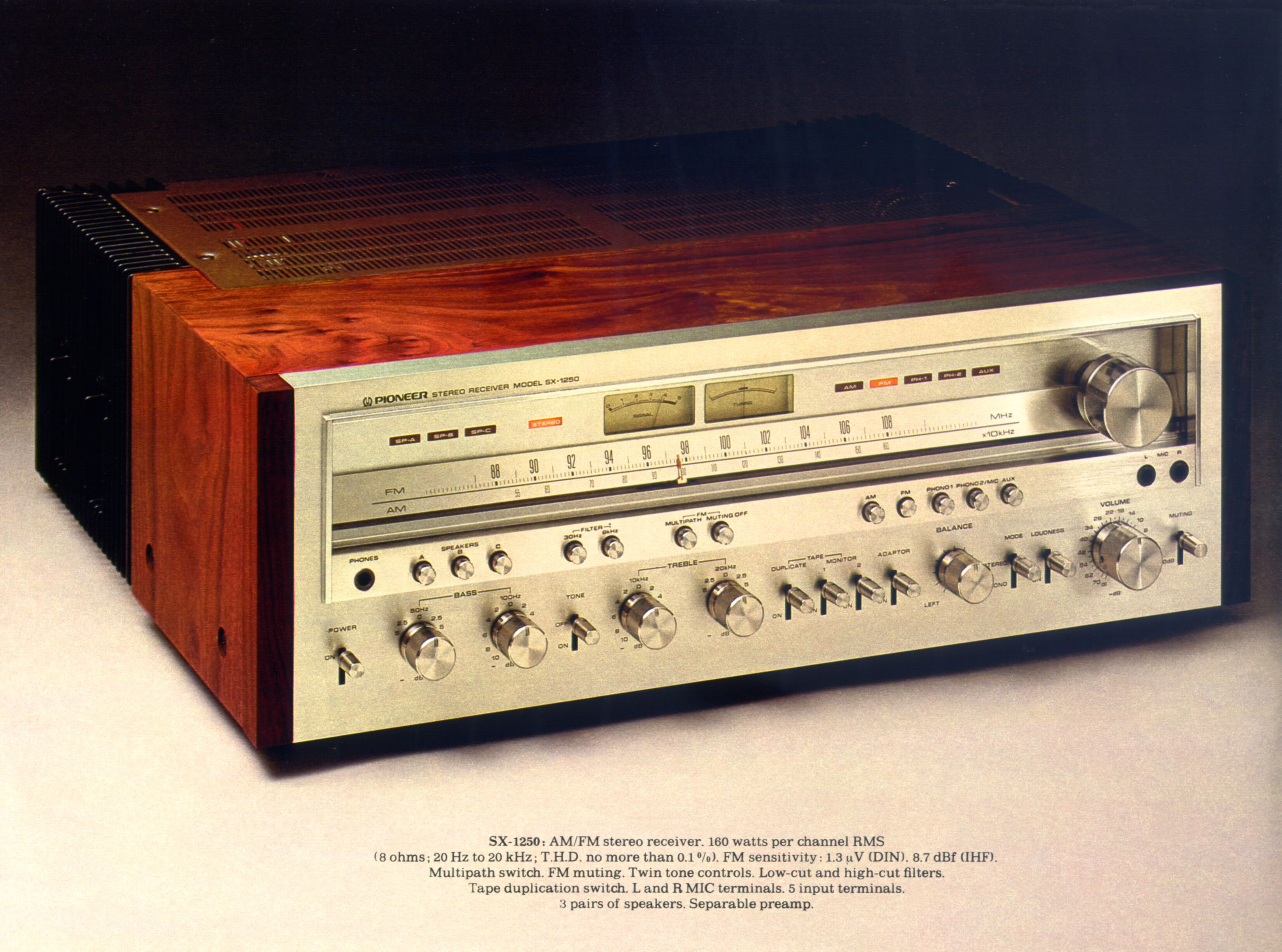 pioneer receiver. the finest receiver ever made? 1976-77 pioneer sx-1250