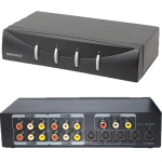 An A/V Switcher Box Can be Used to extend the number of audio sources to an amplifier.
